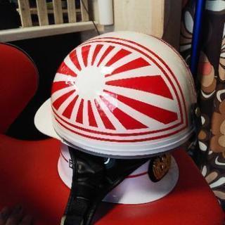 新品 バイク用コルク半ヘルメット カスタム 日章旗