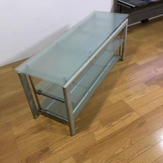 【 ガラス&メタル TVボード】