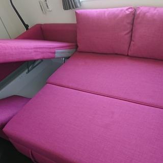 IKEA:FRIHETEN フリーヘーテン(ピンク/コーナーソファ...