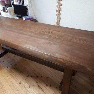 長テーブルセット ベンチ 椅子付