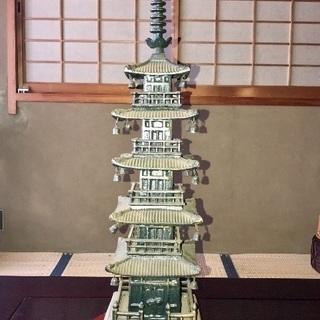 鉄製  五重の塔 置き物