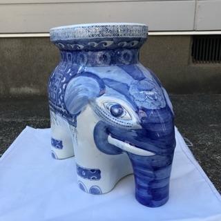 陶器 花台 象