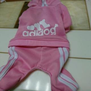 ドッグウェア ピンク adidog 、パーカー 犬服 可愛い服