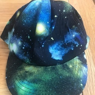 ギャラクシー柄 宇宙柄 帽子 美品