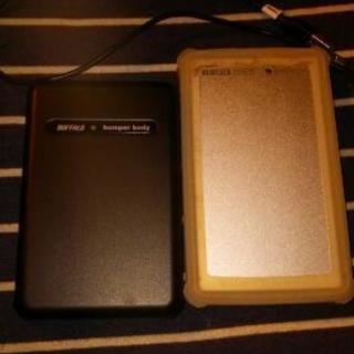 ポータブルHDD 2つセット 400gb/120gb バッファロ...