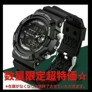 大人気☆SANDA黒×黒 ダイバーズ ビッグフェイス スポーツウ...
