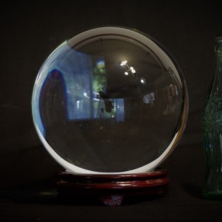 クリスタルガラスボール 直径20cm 重量10kg! ガラスの球 ...