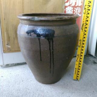 水瓶 壺 陶器 ④ 傘立て 花生け 古民具 インテリア ガーデニング