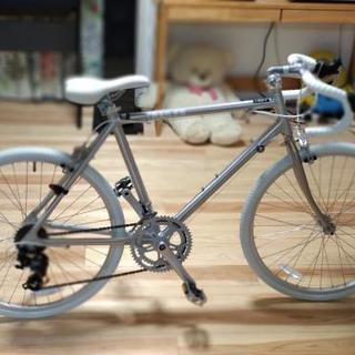 24インチ おしゃれなロードバイク ほぼ新品 サドル高さ81cm...