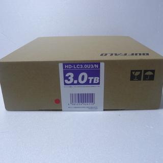 新品未開封【外付ハードディスク】バッファロー HD-LC3.0U3/N