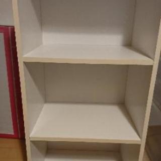 カラーボックス三段白 3個