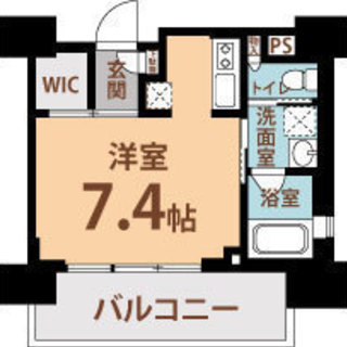 中崎町駅4分 家賃32000円 共益費8000円 25.05㎡ 1K