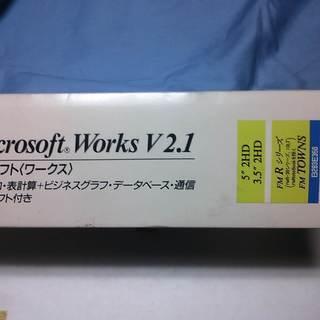 マイクロソフト 統合ソフト<ワークス> FM-R  TOWNS  ...