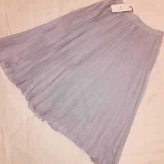 【新品】 Bershka プリーツスカート 水色 ブルー