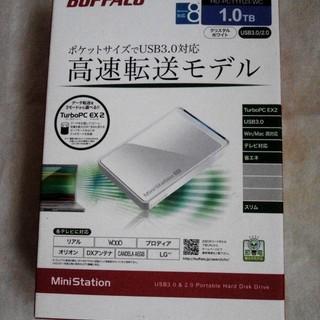 【新品/未開封】BUFFALO 1TB ポケットサイズ外付HDD...