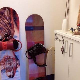 スノーボード板、ブーツ、ビンディング3点セット