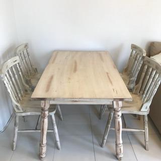 ダイニングテーブルセット☆椅子4脚【訳あり】