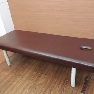 【中古】高田ベッド製作所 有孔DXマッサージベッド 茶色
