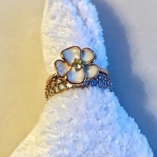ファッションリング キュービックジルコニア 指輪2個セットです💍