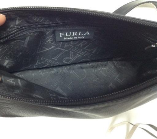 386bbfd8f8f4 美品♪ フルラ FURLAの黒のショルダーバッグ フォーマル (tuta) 近鉄丹波 ...