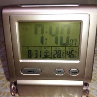 携帯便利な目覚まし時計