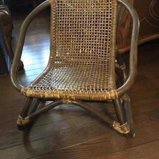 訳有り家具 ラタンの椅子 子供用 アンティーク