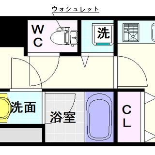 【おおきに夕陽ケ丘サニーアパートメント】1DKタイプ!谷町線夕陽ケ...
