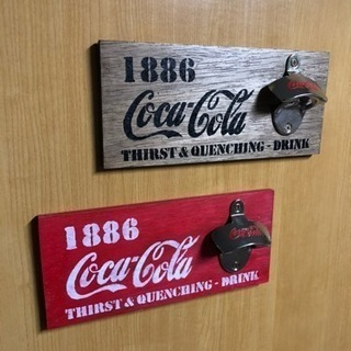 コカコーラ 『 ボトルオープナー 』ブラック レッド