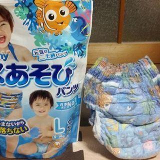 🐠未使用品・ムーニー水遊びパンツLサイズ男の子用🐠1袋
