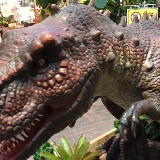 赤塚植物園で恐竜が大暴れ中!!!! - 津市