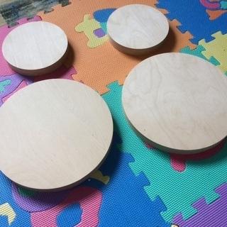 厚み24mmの円形板 2枚になりました。 高級品バーチ合板 工作...