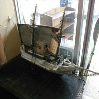 手作り 木造船 漁船 模型