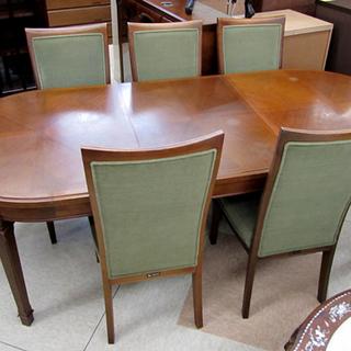 マルニ 地中海 伸長式ダイニングテーブル&椅子5脚セット 西宮の沢