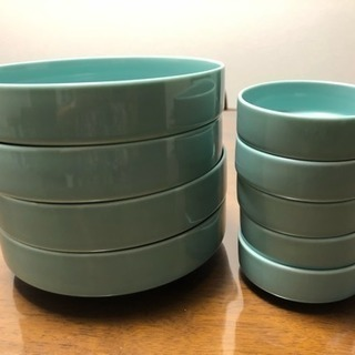 水色 お皿 大4個小5個