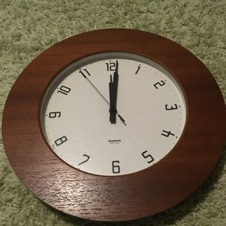 ジャンク品 ウッド調 掛け時計