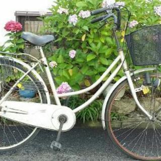 自転車 ジャンク品 ママチャリ(メーカー不明)