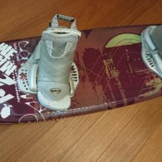 ウェイクボード板、ブーツ、カバー