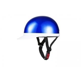 白ツバ半キャップヘルメット ブルーラメ