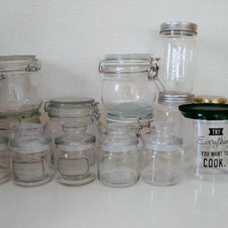ガラス瓶15個
