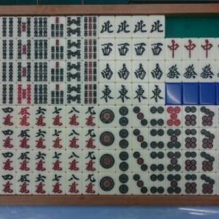 アモス 全自動麻雀卓用牌(青)
