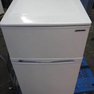 アビテラックス 96L 2ドア冷蔵庫(直冷式)ホワイトストライプ...