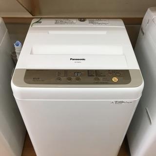 パナソニック 洗濯機 6.0キロ 2017年製