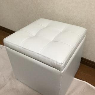 収納 スツール 椅子 ホワイト