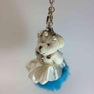 White bear charm  ブルーファー