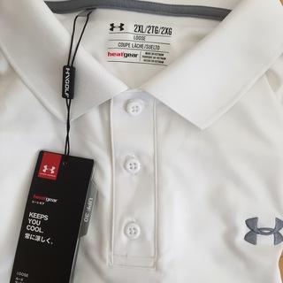 アンダーアーマー 白 半袖ポロシャツ XXL
