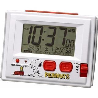 スヌーピー目覚まし電波時計(温度、湿度表示付)!!