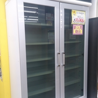 【値下げしました】2面食器棚 カップボード 80幅 5-6 福岡 ...