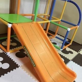 アンパンマン☆室内用ジャングルジムと滑り台セット