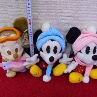 Disney Baby ミッキー&ミニー ぬいぐるみ 3つセット