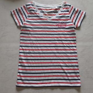 ボーダーマリン Tシャツ レディース 刺繡入り Mサイズ